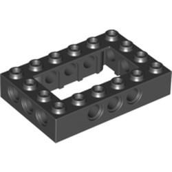 Black Technic, Brick 4 x 6 Open Center - used