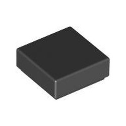 Black Tile 1 x 1 with Groove (3070) - used