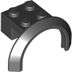 Black Vehicle, Mudguard 4 x 2 1/2 x 1 2/3 with Arch Round
