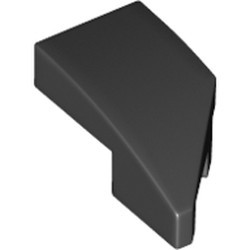 Black Wedge 2 x 1 with Stud Notch Left - new