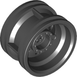 Black Wheel 30.4mm D. x 20mm with No Pin Holes and Reinforced Rim