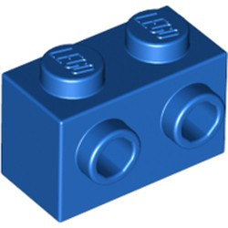 Blue Brick, Modified 1 x 2 with Studs on 1 Side