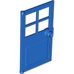 Blue Door 1 x 4 x 6 with 4 Panes and Stud Handle