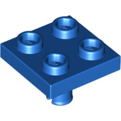 Blue Plate, Modified 2 x 2 with Pin on Bottom - used