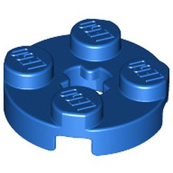 Blue Plate, Round 2 x 2 with Axle Hole - used