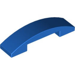 Blue Slope, Curved 4 x 1 Double - used
