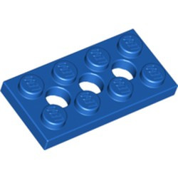 Blue Technic, Plate 2 x 4 with 3 Holes
