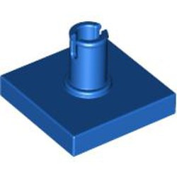 Blue Tile, Modified 2 x 2 with Pin - used