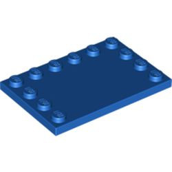 Blue Tile, Modified 4 x 6 with Studs on Edges