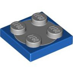 Blue Turntable 2 x 2 Plate, Base with Light Bluish Gray Turntable 2 x 2 Plate, Top (3680 / 3679) - used