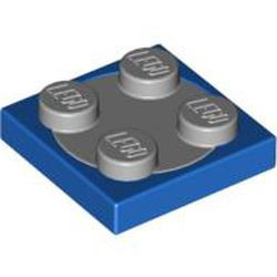Blue Turntable 2 x 2 Plate with Light Bluish Gray Top (3680 / 3679) - new