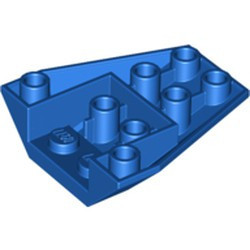 Blue Wedge 4 x 4 Triple Inverted with Connections between 2 Studs
