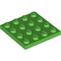 Bright Green Plate 4 x 4