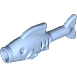 Bright Light Blue Fish - used