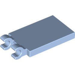 Bright Light Blue Tile, Modified 2 x 3 with 2 Open O Clips
