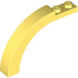 Bright Light Yellow Brick, Arch 1 x 6 x 3 1/3 Curved Top - new