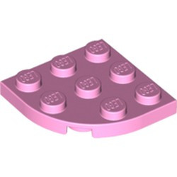 Bright Pink Plate, Round Corner 3 x 3 - used
