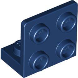 Dark Blue Bracket 1 x 2 - 2 x 2 Inverted