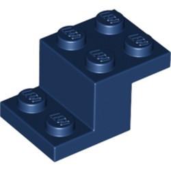 Dark Blue Bracket 3 x 2 x 1 1/3 - used