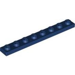 Dark Blue Plate 1 x 8 - new