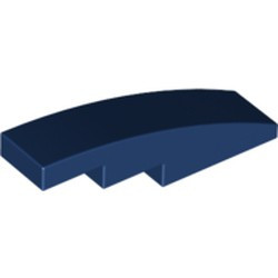 Dark Blue Slope, Curved 4 x 1 - new