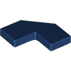Dark Blue Tile, Modified Facet 2 x 2 Corner with Cut Corner - new