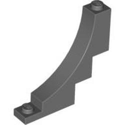 Dark Bluish Gray Brick, Arch 1 x 5 x 4 Inverted - new