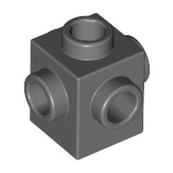Dark Bluish Gray Brick, Modified 1 x 1 with Studs on 4 Sides