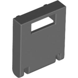 Dark Bluish Gray Container, Box 2 x 2 x 2 Door with Slot - used