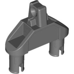 Dark Bluish Gray Hinge 1 x 3 with Two Pins, Locking 1 Finger - used