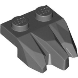 Dark Bluish Gray Plate, Modified 1 x 2 with 3 Claws / Rock Fingers