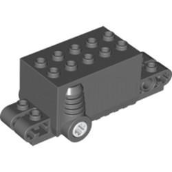 Dark Bluish Gray Pullback Motor 9 x 4 x 2 2/3 - used