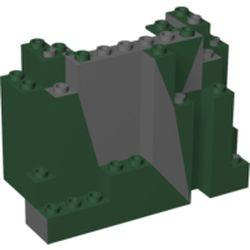 Dark Bluish Gray Rock Panel 4 x 10 x 6 Rectangular (BURP) - used with Marbled Dark Green Pattern