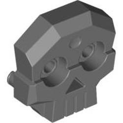 Dark Bluish Gray Rock Skull 1 x 4 x 3 Relief with Two Pins