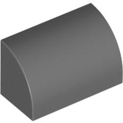Dark Bluish Gray Slope, Curved 1 x 2 x 1