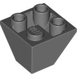 Dark Bluish Gray Slope, Inverted 45 2 x 2 Double Convex