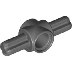 Dark Bluish Gray Technic, Axle and Pin Connector Hub with 2 Axles - used