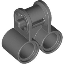 Dark Bluish Gray Technic, Axle and Pin Connector Perpendicular Double - used