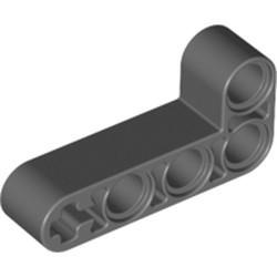 Dark Bluish Gray Technic, Liftarm, Modified Bent Thick L-Shape 2 x 4