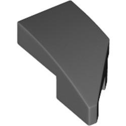 Dark Bluish Gray Wedge 2 x 1 x 2/3 with Stud Notch Left