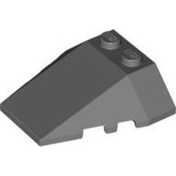 Dark Bluish Gray Wedge 4 x 4 Triple with Stud Notches