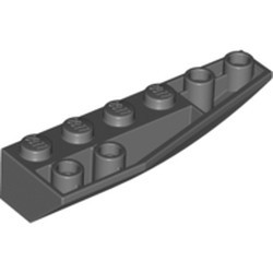 Dark Bluish Gray Wedge 6 x 2 Inverted Right - used