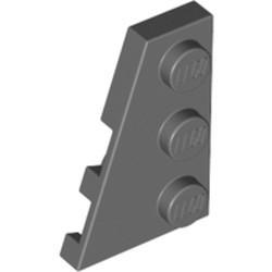 Dark Bluish Gray Wedge, Plate 3 x 2 Left