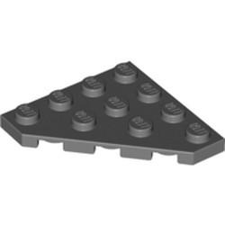 Dark Bluish Gray Wedge, Plate 4 x 4 Cut Corner