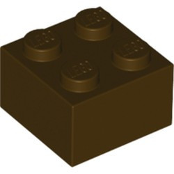 Dark Brown Brick 2 x 2 - new