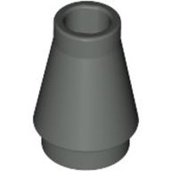 Dark Gray Cone 1 x 1 without Top Groove - used