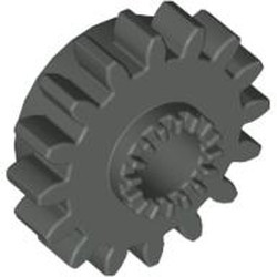 Dark Gray Technic, Gear 16 Tooth with Clutch