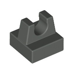 Dark Gray Tile, Modified 1 x 1 with Clip - used