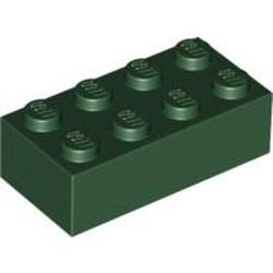 Dark Green Brick 2 x 4 - used