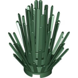 Dark Green Plant Prickly Bush 2 x 2 x 4